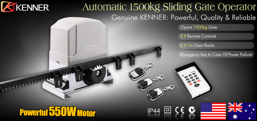 New Sliding Electric Gate Opener 1500kg Automatic Motor